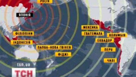 Карта цунамі