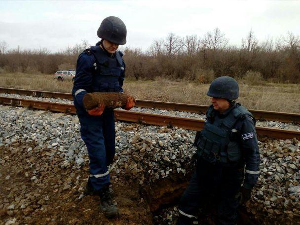 На залізничній колії під Одесою знайшли артилерійські снаряди