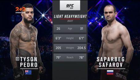 UFC 221 в Австралии. Тайсон Педро - Сапарбек Сафаров. Видео боя
