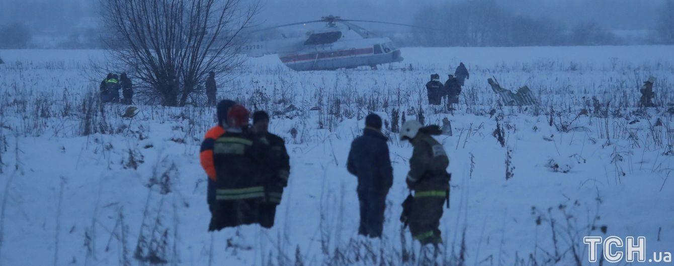 На місці падіння Ан-148 під Москвою знайшли чорний ящик