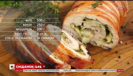 Куриный рулет с песто - рецепты Сеничкина