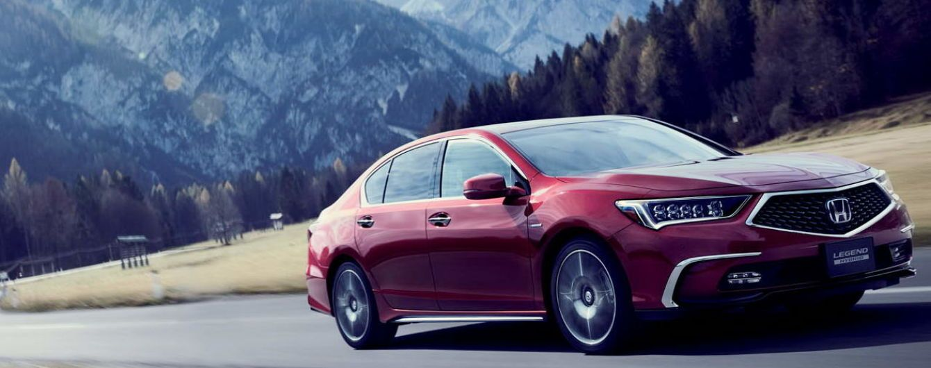 Honda выпустит гибридную версию нового седана Legend