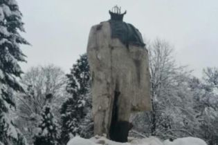 У Стрию відшукали зниклу голову пам'ятника Тарасу Шевченку