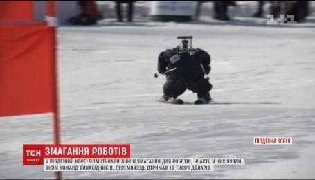 В Южной Корее устроили первые лыжные соревнования для роботов