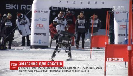 В Южной Корее на лыжный трек вышли настоящие работы