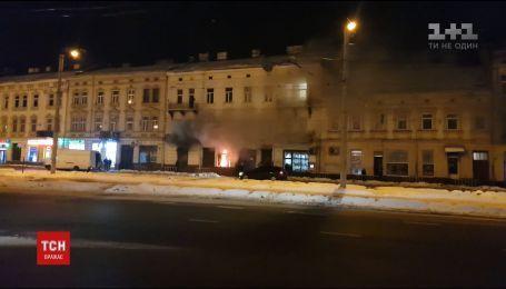 """Во Львове горел """"Сбербанк"""" России"""