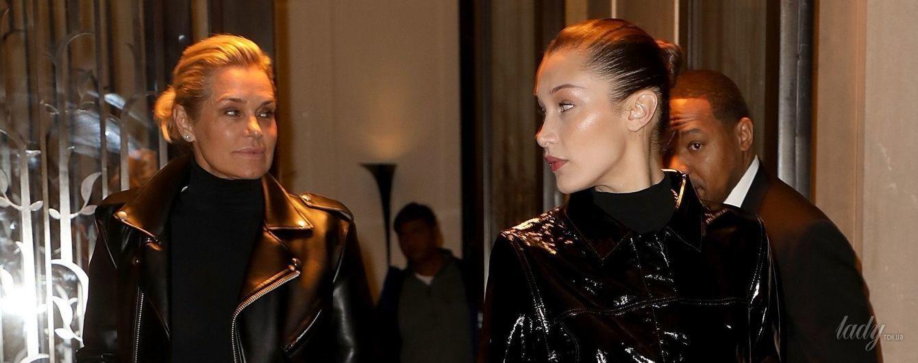 Как сестры: стильные Иоланда и Белла Хадид сходили в ресторан