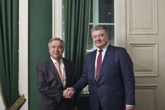 Порошенко обговорив із генсеком ООН миротворчу місію на Донбасі