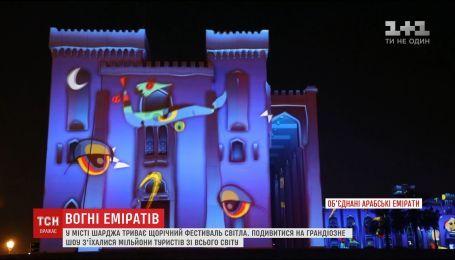 Фестиваль света в ОАЭ собрал рекордное количество зрителей