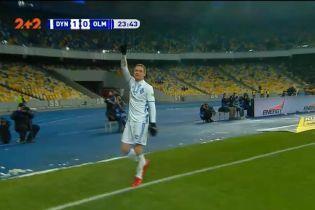 Динамо - Олімпік - 1:0. Відео голу Циганкова