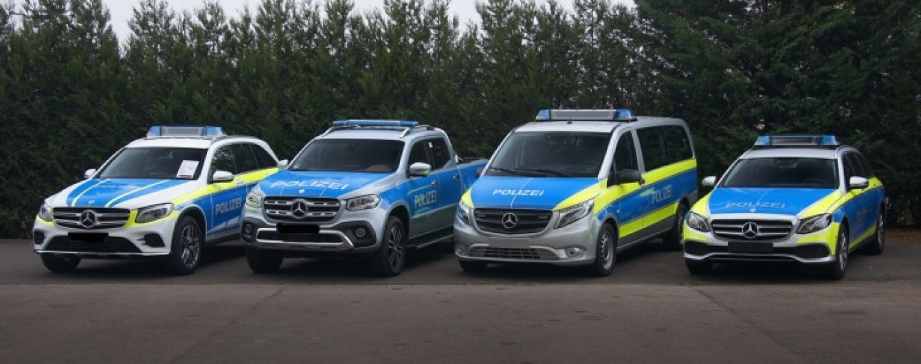Mercedes экспериментирует с версиями своих моделей для полиции