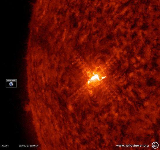 NASA показало новий спалах на Сонці