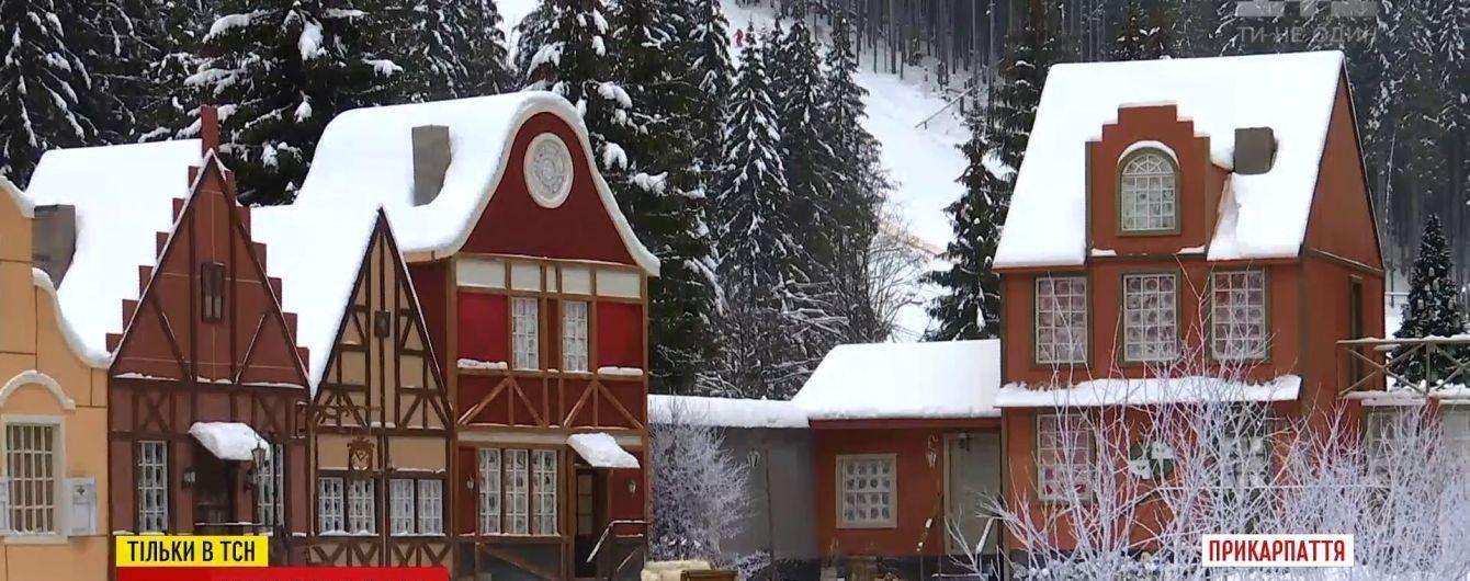 Для кінознімань на Буковелі побудували європейське містечко XVII століття