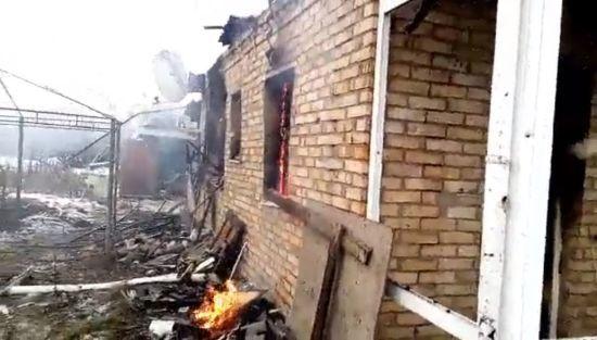 Бойовики накрили вогнем Жованку, спаливши будинок місцевих мешканців