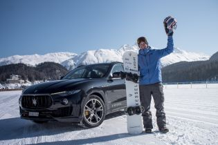 Maserati Levante докатил снуобордиста до рекорда скорости