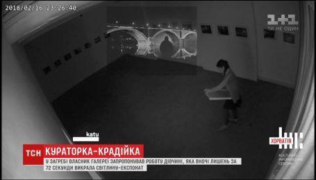 В Хорватии владелец галереи предложил работу девушке, которая украла у него картину