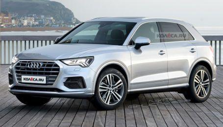 """Фотошпионы """"поймали"""" новый кроссовер Audi Q3 и узнали кое-что новое"""