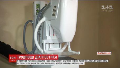 На Николаевщине в больнице шесть лет скрывали новенький маммограф, пока он не вышел из строя
