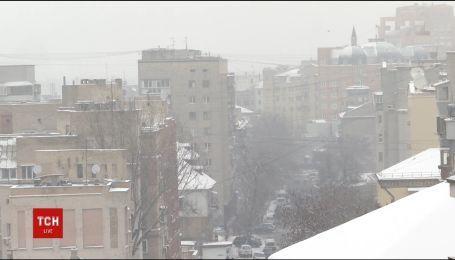 Сильные морозы за несколько дней до весны сковали Украины