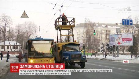 В столице из-за сильных морозов остановился общественный транспорт