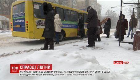 Из-за снегопадов ухудшается ситуация на трассах Одесской области