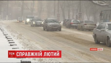 Непогода в Украине: в Одессу запретили въезд большегрузного транспорта