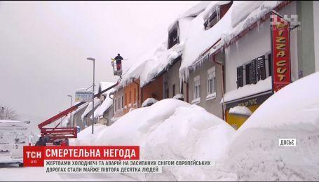 Жертвами холода и метели в Европе стали почти полтора десятка человек