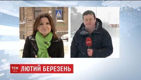 Бориспольская и Житомирская трассы забиты автомобилями и грузовиками