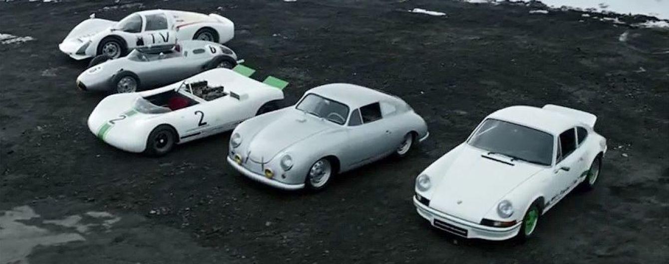 Porsche показал пять самых легких автомобилей за историю компании