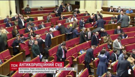 Закон про Антикорупційний суд депутати ухвалили у першому читанні