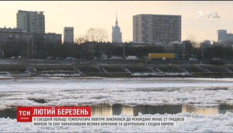 У Польщі температура повітря впала до рекордних мінус 27 градусів