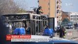 Поблизу Мілана водій підпалив автобус із півсотнею учнів