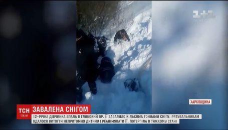 На Харьковщине лавина едва не убила ребенка