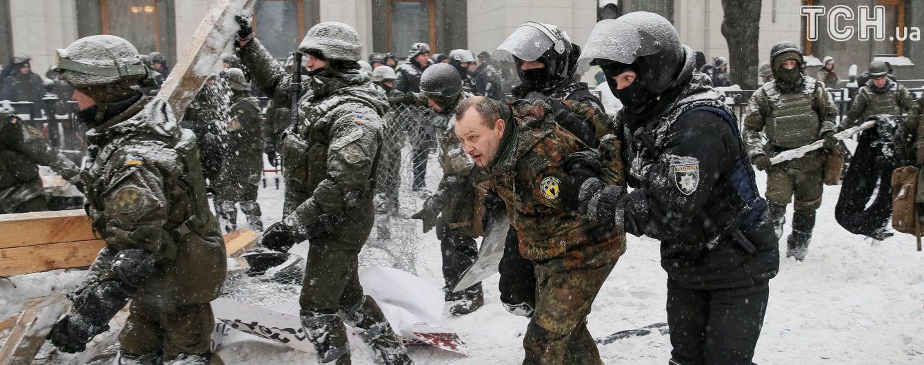Полиция отпустила всех задержанных под Радой, одному инкриминируют избиение пятерых спецназовцев