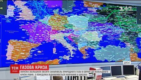Украина увеличила объемы закупок газа из Европы