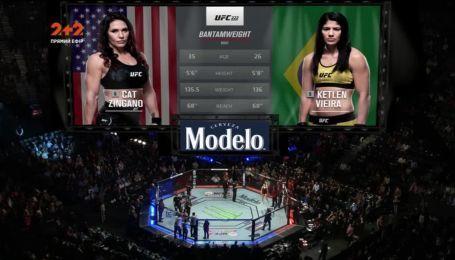 UFC 222. Кетлін Вієйра - Кет Зінгано. Відео бою