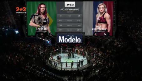 UFC 222. Крис Сайборг - Яна Куницкая. Видео боя