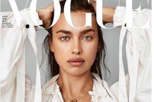 В сексуальном топе и без макияжа: Ирина Шейк украсила обложку глянца