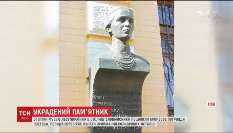 Лесю вкрали: у Києві розшукують викрадачів погруддя поетеси