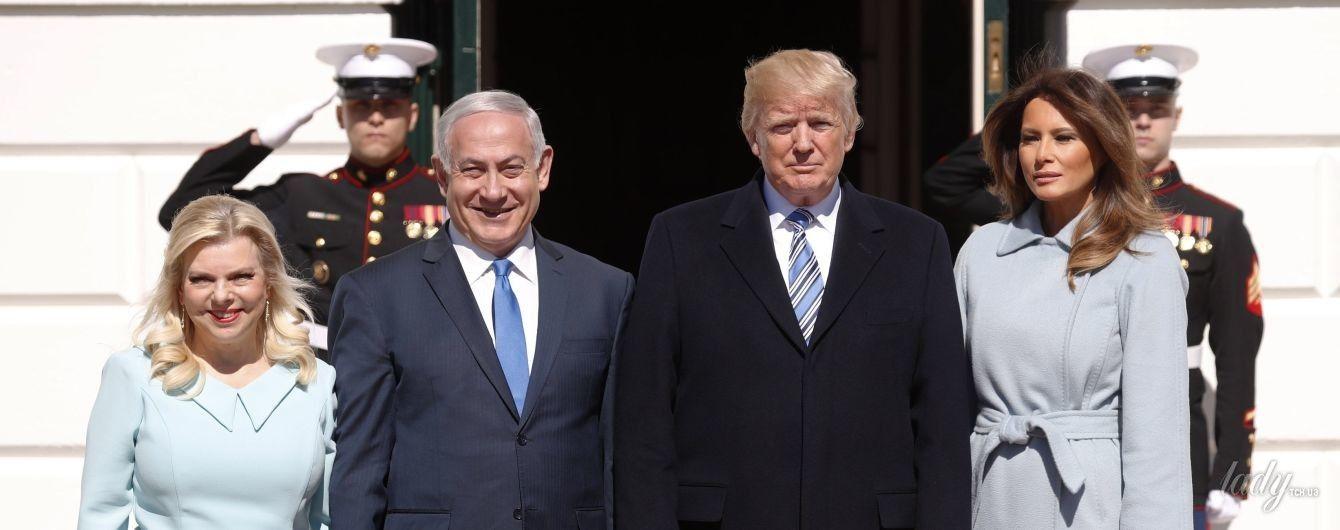 Битва голубых нарядов: Мелания Трамп vs Сара Нетаньяху