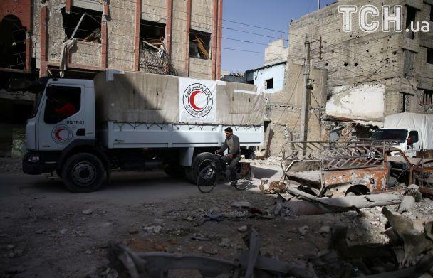 """""""Червоний хрест"""" припинить надавати гуманітарну допомогу населенню Східної Гути"""