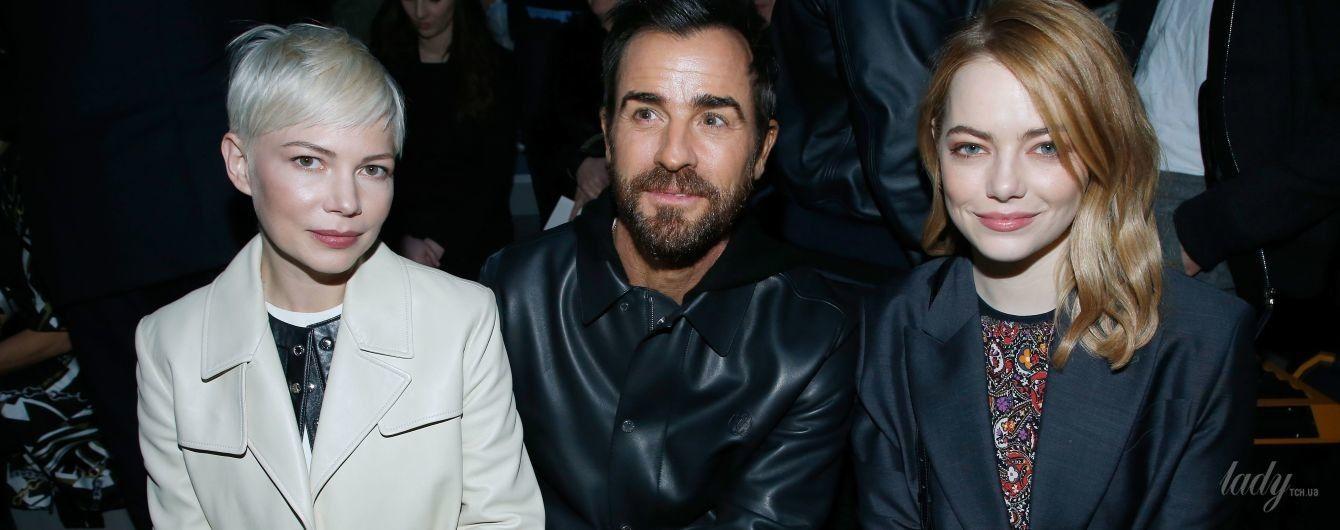В компании звездных красавиц: бывший муж Энистон пришел на показ Louis Vuitton в Париже