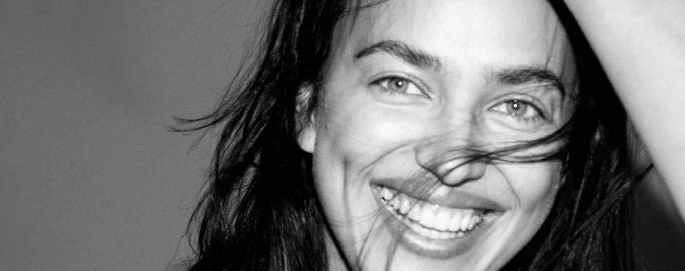 Топлес и без макияжа: Ирина Шейк в необычной съемке для глянца