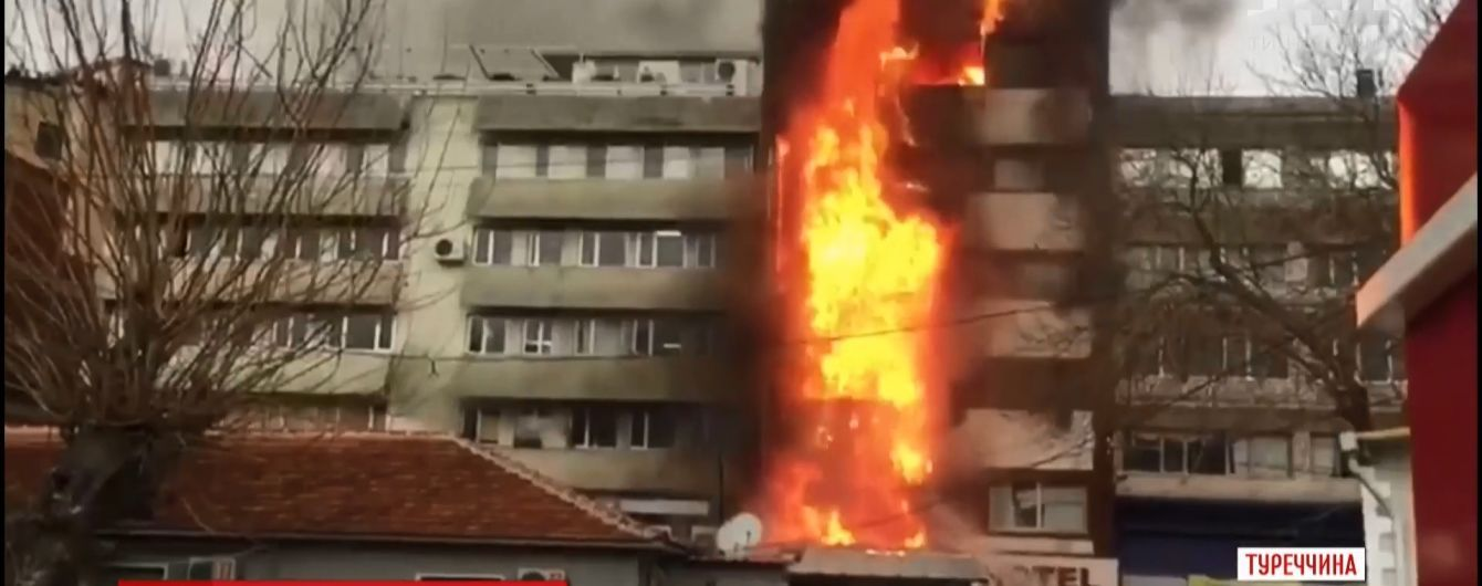 На курорте в Турции две женщины выпрыгнули с шестого этажа горящего отеля