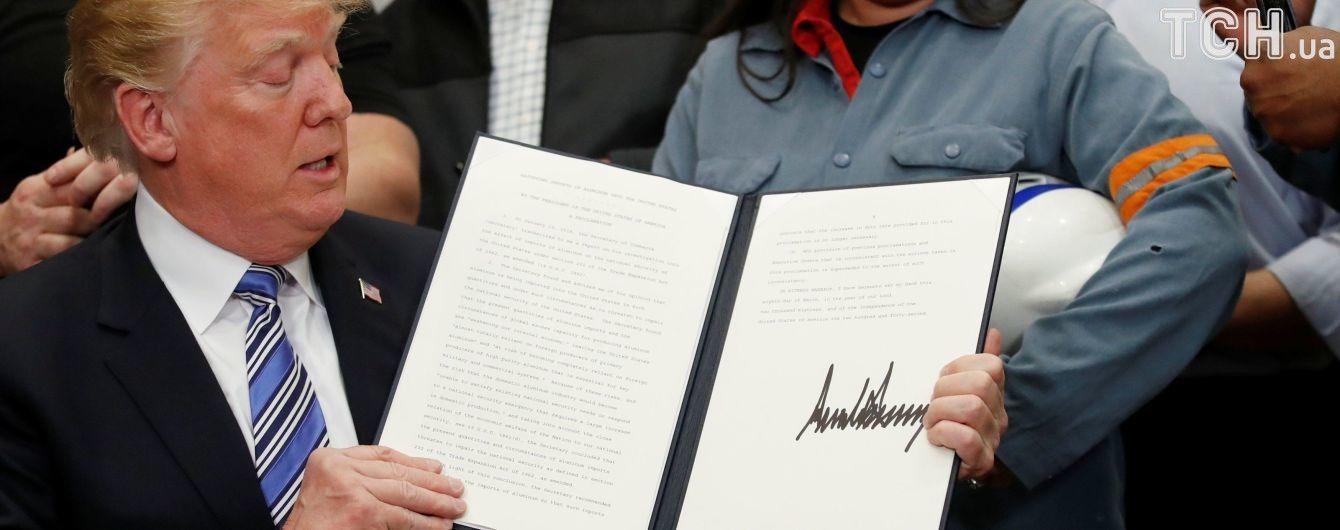 Трамп підписав документи про запровадження мит на імпорт сталі та алюмінію