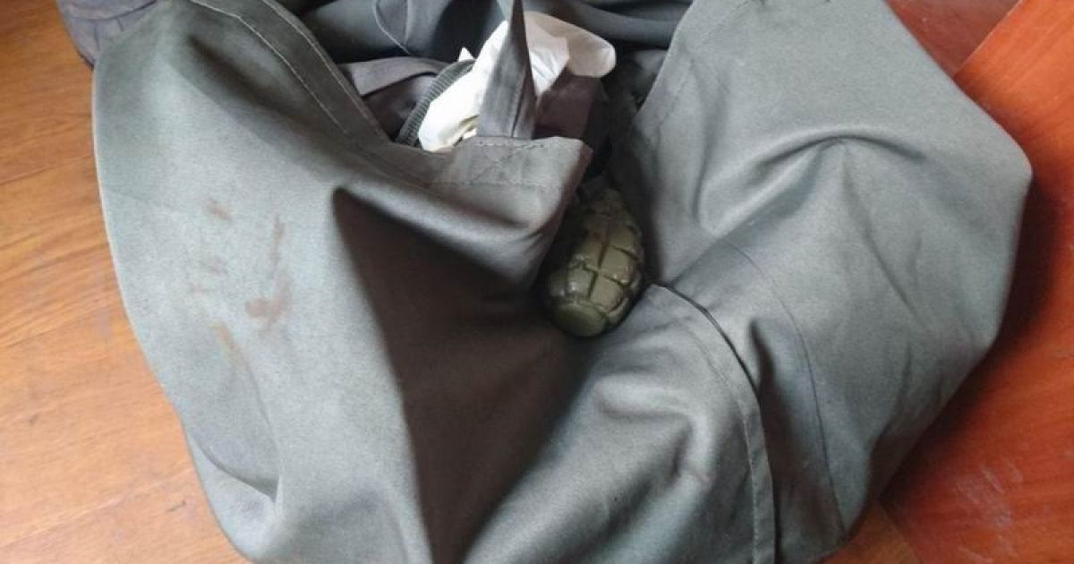 В Славянске на Донетчине во время упаковки посылки в офисе отделения  экспресс-доставки курьер нашел гранату Ф-1. Отправление предназначалось  жителю ... 3cb1588b37b