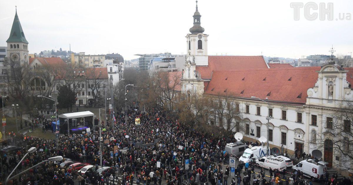 Вбивство журналіста  у Словаччині відбулася найбільша демонстрація з часів  революції 1989 року (9.87 22) a1f7557bdc1f5