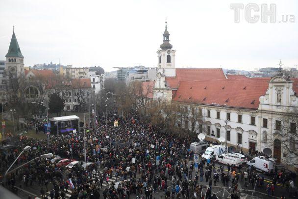 Вбивство журналіста: у Словаччині відбулася найбільша демонстрація з часів революції 1989 року