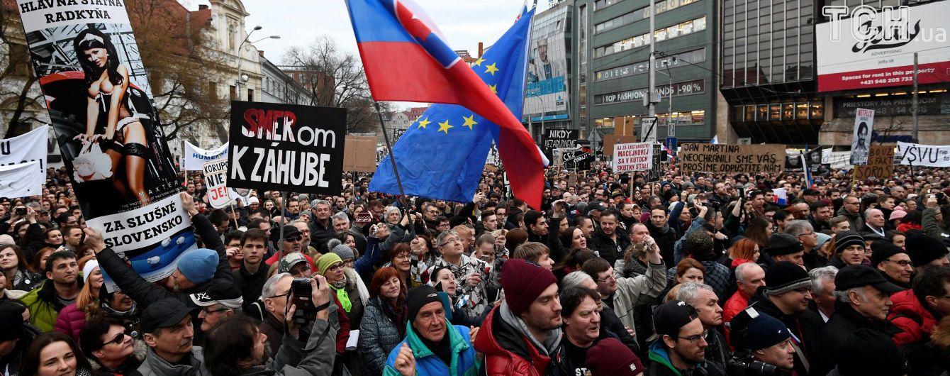 Словаки вийшли на акції протесту: вимають відставки очільника поліції і виборів