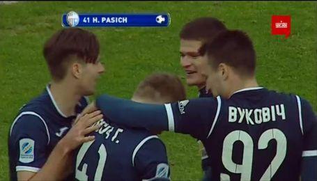 Карпаты - Олимпик - 0:2. Видео гола Пасича
